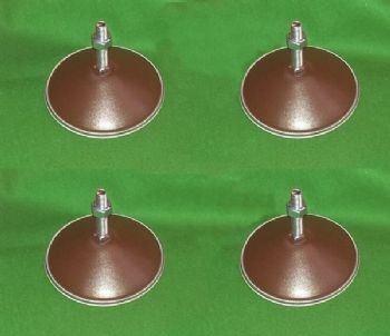 4 New Brown Metal Pool Football Snooker Hockey Games Table levelling feet legs